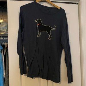 the black dog navy long sleeve tee